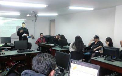 Taller de diagnóstico de competencias y habilidades en la Corporación universitaria Unitec de Colombia con nuestro simulador La Isla