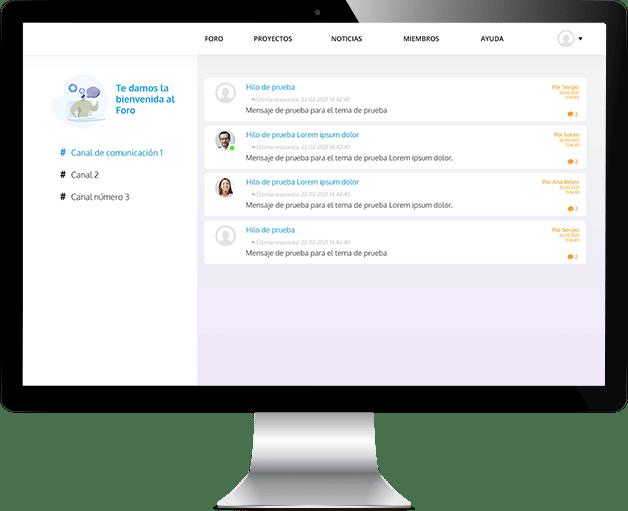 Plataforma de comunicación interna